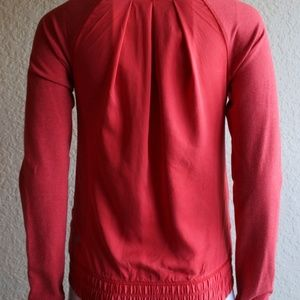 lululemon athletica Jackets & Coats - Ω Lululemon Blissed Out Zip Up Jacket Love Red